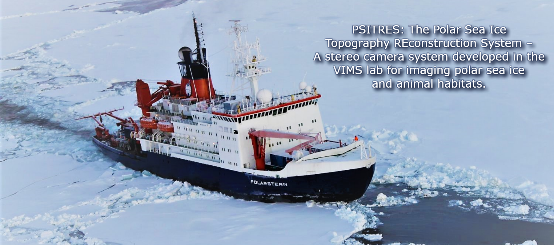 PSITRES: A Polar Sea Ice Topography and REconstruction System for analyzing arctic sea ice and polar animal habitats
