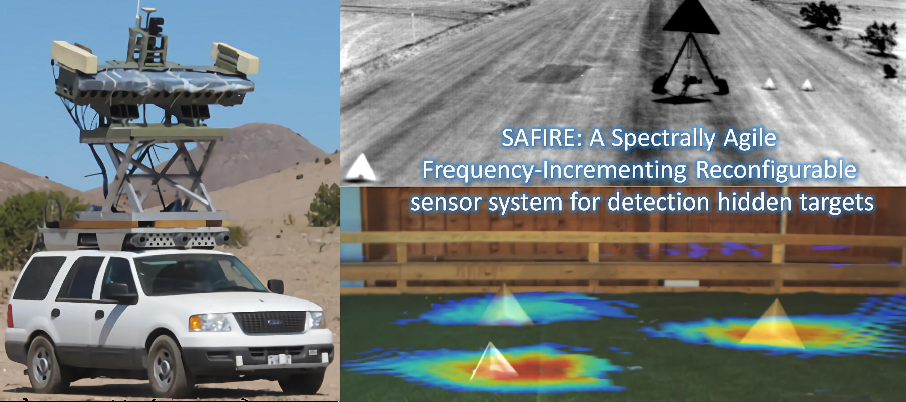 SAFIRE: A Spectrally Agile Frequency-Incrementing REconfigurable sensor system for detecting hidden targets